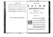 Estro poetico-armonico for Voices and Basso Continuo: Volume III. Psalm XVIII by Benedetto Marcello