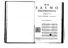 Estro poetico-armonico for Voices and Basso Continuo: Volume IV. Psalm XIX by Benedetto Marcello