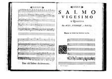 Estro poetico-armonico for Voices and Basso Continuo: Volume IV. Psalm XX by Benedetto Marcello