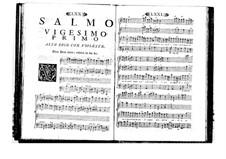 Estro poetico-armonico for Voices and Basso Continuo: Volume IV. Psalm XXI by Benedetto Marcello