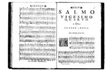 Estro poetico-armonico for Voices and Basso Continuo: Volume IV. Psalm XXIV by Benedetto Marcello