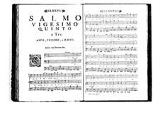 Estro poetico-armonico for Voices and Basso Continuo: Volume IV. Psalm XXV by Benedetto Marcello