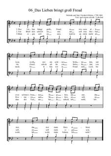 Das Lieben bringt groß Freud: For male choir by Friedrich Silcher
