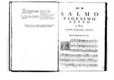 Estro poetico-armonico for Voices and Basso Continuo: Volume V. Psalm XXVI by Benedetto Marcello