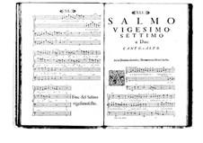 Estro poetico-armonico for Voices and Basso Continuo: Volume V. Psalm XXVII by Benedetto Marcello