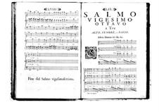 Estro poetico-armonico for Voices and Basso Continuo: Volume V. Psalm XXVIII by Benedetto Marcello