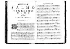 Estro poetico-armonico for Voices and Basso Continuo: Volume V. Psalm XXIX by Benedetto Marcello