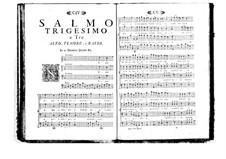 Estro poetico-armonico for Voices and Basso Continuo: Volume V. Psalm XXX by Benedetto Marcello
