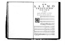 Estro poetico-armonico for Voices and Basso Continuo: Volume VI. Psalm XXXI by Benedetto Marcello