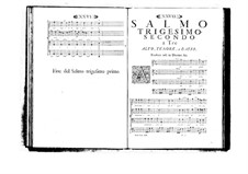 Estro poetico-armonico for Voices and Basso Continuo: Volume VI. Psalm XXXII by Benedetto Marcello