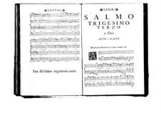 Estro poetico-armonico for Voices and Basso Continuo: Volume VI. Psalm XXXIII by Benedetto Marcello