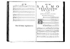 Estro poetico-armonico for Voices and Basso Continuo: Volume VI. Psalm XXXIV by Benedetto Marcello