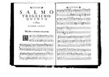 Estro poetico-armonico for Voices and Basso Continuo: Volume VI. Psalm XXXV by Benedetto Marcello