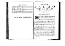 Estro poetico-armonico for Voices and Basso Continuo: Volume VII. Psalm XXXVIII by Benedetto Marcello