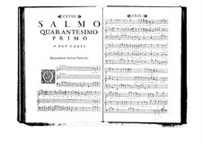 Estro poetico-armonico for Voices and Basso Continuo: Volume VII. Psalm XLI by Benedetto Marcello