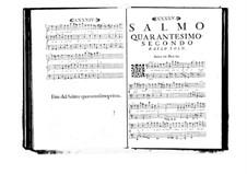 Estro poetico-armonico for Voices and Basso Continuo: Volume VII. Psalm XLII by Benedetto Marcello