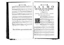 Estro poetico-armonico for Voices and Basso Continuo: Volume VII. Psalm XLIII by Benedetto Marcello