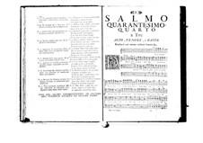 Estro poetico-armonico for Voices and Basso Continuo: Volume VIII. Psalm XLIV by Benedetto Marcello