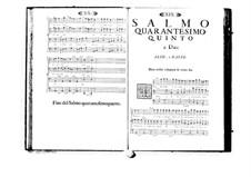 Estro poetico-armonico for Voices and Basso Continuo: Volume VIII. Psalm XLV by Benedetto Marcello