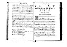 Estro poetico-armonico for Voices and Basso Continuo: Volume VIII. Psalm XLVI by Benedetto Marcello