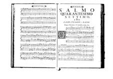 Estro poetico-armonico for Voices and Basso Continuo: Volume VIII. Psalm XLVII by Benedetto Marcello