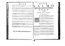 Estro poetico-armonico for Voices and Basso Continuo: Volume VIII. Psalm XLIX by Benedetto Marcello