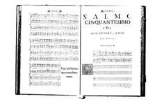 Estro poetico-armonico for Voices and Basso Continuo: Volume VIII. Psalm L by Benedetto Marcello