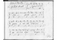 Ingratissima Clori for Voice and Basso Continuo, SF A151: Ingratissima Clori for Voice and Basso Continuo by Benedetto Marcello