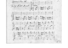 Le fresche erbette for Voice and Basso Continuo, SF A173: Le fresche erbette for Voice and Basso Continuo by Benedetto Marcello