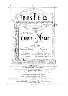 Tzigane for Cello (or Violin) and Piano: Score by Gabriel Prosper Marie