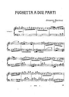 Fughetta a due parti, Op.18: Fughetta a due parti by Giuseppe Martucci