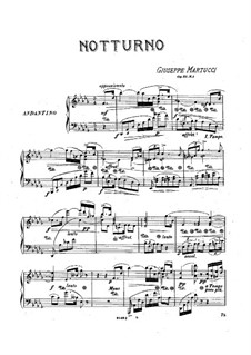 Four Pieces for Piano, Op.31: No.1 Nocturne by Giuseppe Martucci