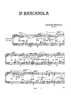 Four Pieces for Piano, Op.31: No.2 Barcarole by Giuseppe Martucci