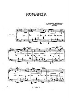 Four Pieces for Piano, Op.31: No.3 Romance by Giuseppe Martucci