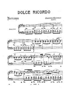 Four Pieces for Piano, Op.31: No.4 Dolce ricordo by Giuseppe Martucci