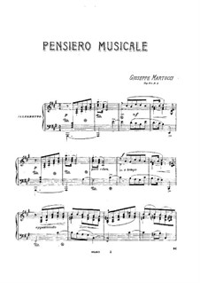 Seven Pieces for Piano, Op.43: No.1 Pensiero musicale by Giuseppe Martucci