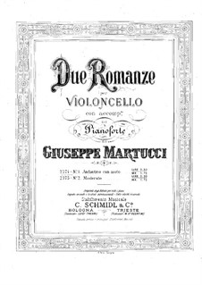Two Romance for Cello and Piano, Op.72: Romance No.1 – score for two performers by Giuseppe Martucci