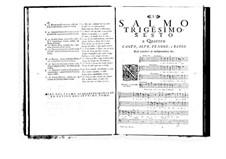 Estro poetico-armonico for Voices and Basso Continuo: Volume VII. Psalm XXXVI by Benedetto Marcello