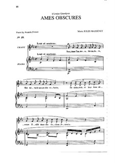 Âmes obscures: In E Flat Major by Jules Massenet