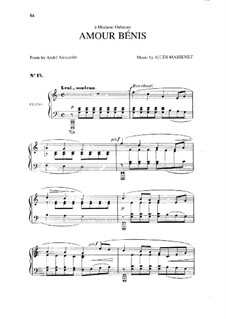 Amour bénis: In C Major by Jules Massenet