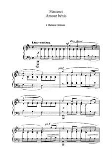 Amour bénis: In D Major by Jules Massenet