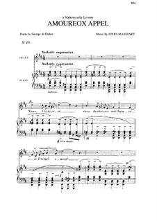 Amoureux appel: In D Major by Jules Massenet