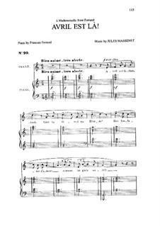 Avril est là: In C Major by Jules Massenet