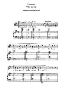 Avril est là: In D Major by Jules Massenet