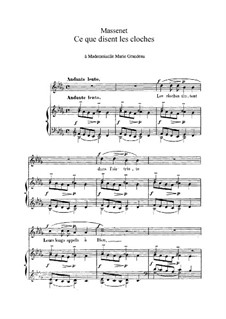 Ce que disent les cloches: In B Flat Minor by Jules Massenet
