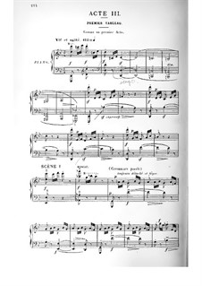 Cendrillon (Cinderella): Act III. Arrangement for voices and piano by Jules Massenet