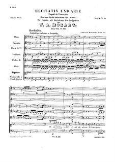 Popoli di Tessaglia, K.316: Popoli di Tessaglia by Wolfgang Amadeus Mozart
