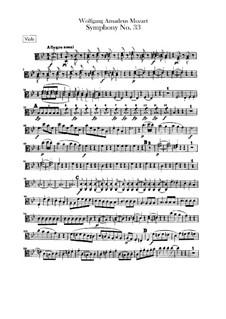 Symphony No.33 in B Flat Major, K.319: Viola part by Wolfgang Amadeus Mozart