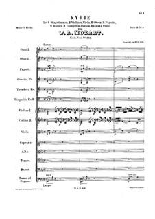 Kyrie in E Flat Major, K.322: Kyrie in E Flat Major by Wolfgang Amadeus Mozart