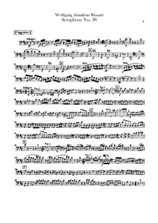 Symphony No.38 in D Major 'Prague', K.504: Bassoons parts by Wolfgang Amadeus Mozart